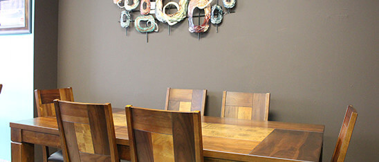 Wall Decor and dining room set | Furniture